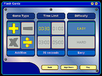 Flash Cards Menu